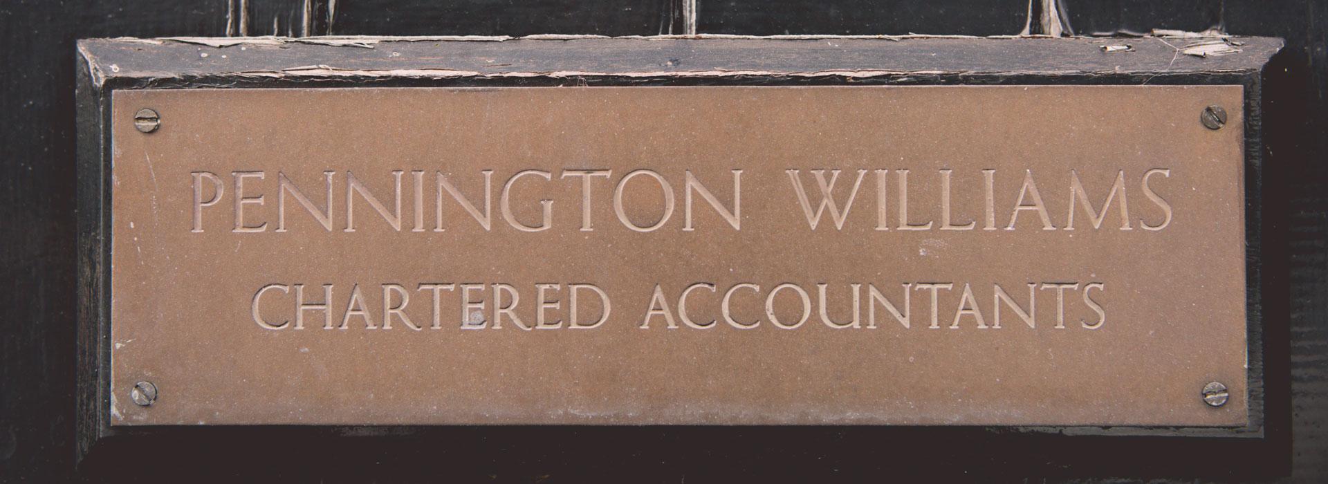 Pennington Williams Brass Plack